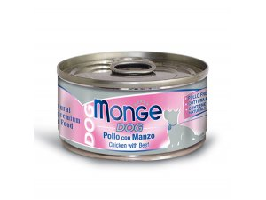 MONGE Dog Natural kuře,hovězí 95g/24bal