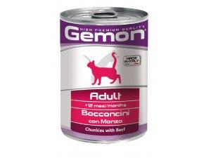 GEMON Cat HP  kousky, hovězí 415g/24bal
